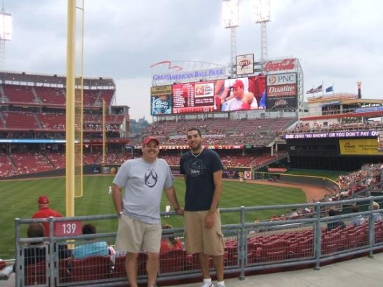 Great American Ball Park: great american ballpark with my son