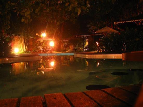 Pousada Berro do Jeguy: pool at night