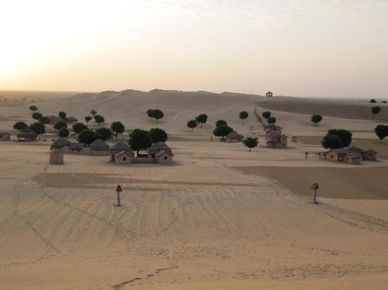 Khimsar Sand Dunes Village : View from the Dunes on the West Side
