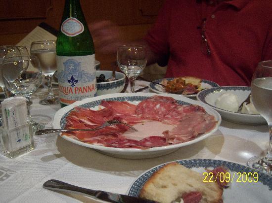 Ristorante Girarrosto Toscano : Meat platter-part of the antipasti