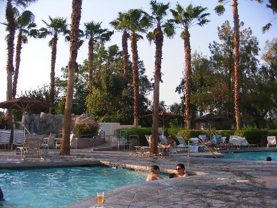 Marriott's Desert Springs Villas II: Family Pool Area, sauna, w/Cabanas