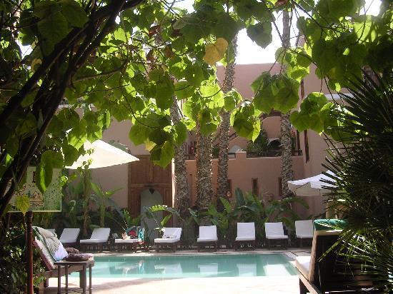 Les Jardins de la Medina: la piscina desde el jardin