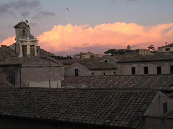 Hotel San Francesco: View of convent at sunset from our third floor window