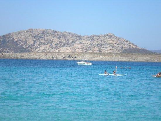 Parco Nazionale Asinara : l'Isola dell'Asinara dalla spiaggia della Pelosa