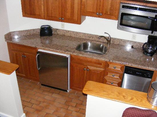 Kitchen Area in 1 Bedroom Townhouse Unit