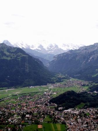 Harder Kulm: birds eye view of Interlaken
