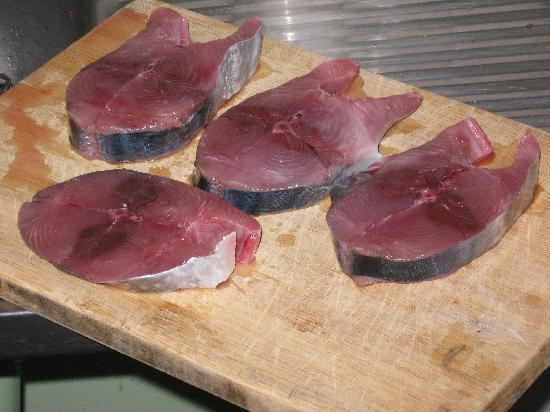 Cholson Chalets Ltd.: Fresh caught tuna steaks I prepared simply for dinner one night.