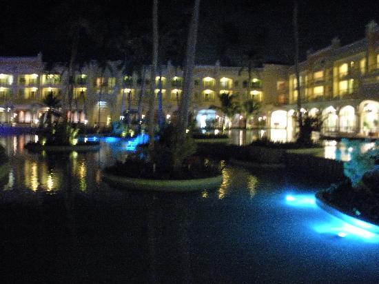Iberostar Grand Hotel Bavaro: View of resort at night