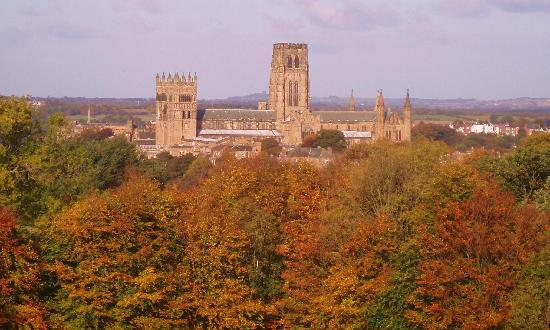 Дарем, UK: View of Cathedral from St. Aidens College