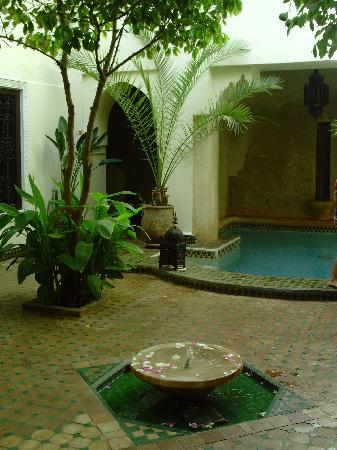Riad Dar Dialkoum: Cour intérieur et piscine