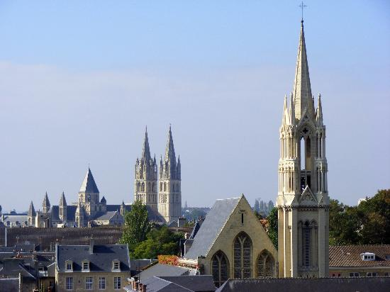 View from Castle, Caen, Basse-Normandie, Normandy, France,
