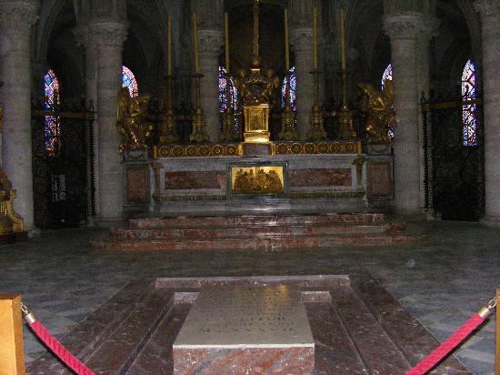 Caen, Frankrig: Tomb of William the Conqueror, Eglise Saint Étienne Abbaye aux Hommes