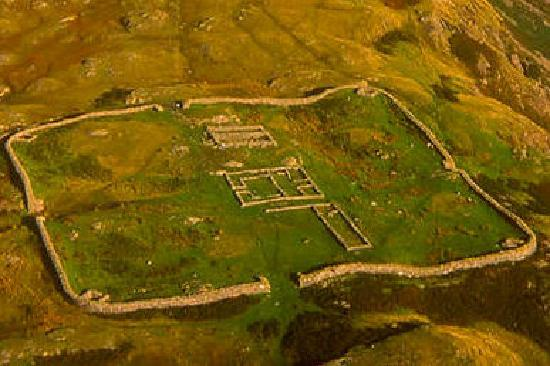 Hardknott Roman Fort: From the air