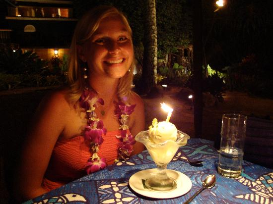 Mama's Fish House: birthday dessert