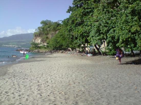 Le Carbet, Martinique: La côte ouest - La plage du Carbet.