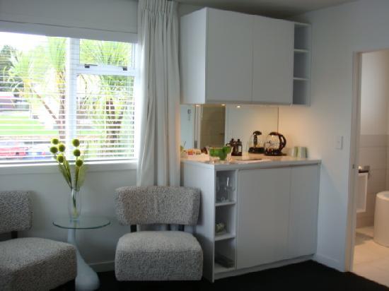 Regent of Rotorua : Kitchen Area in the Living Room