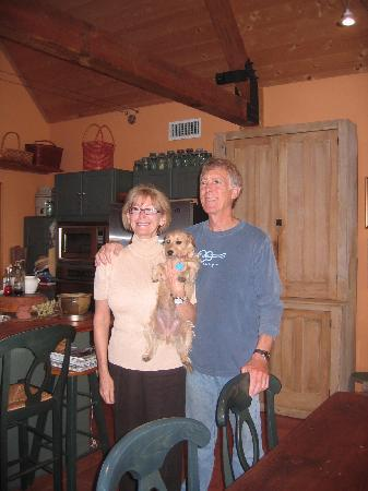 Stony Ridge Ranch: Hosts - Rollie & Steve (with Ginger)