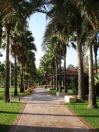 Club Med Palmiye: Footpath in centre of village