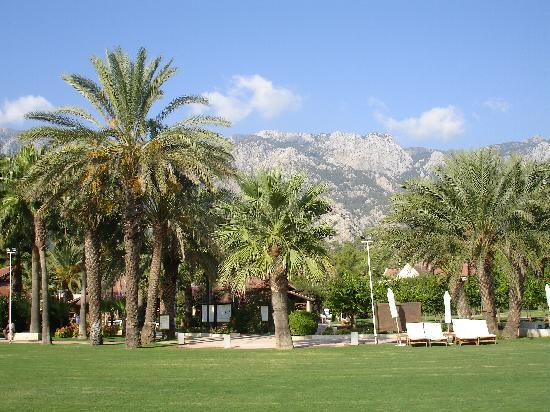 Club Med Palmiye: Beautiful gardens with mountains behind