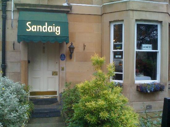 Sandaig Guest House: View from street.