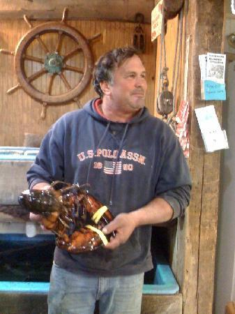 Gurnet Trading Co.: Brian helping with an old shell 4.2LB