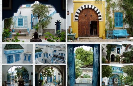 Palais Dar Nejma Ezzahra : Sidi Bousaid. Ciudad turística. próxima a las ruinas romanas de Cartago (Túnez)