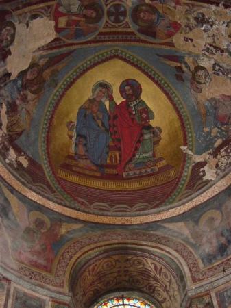 Poitiers, Francia: Église de Notre-Dame- la- Grande: intérieur, peintures des voûtes de l'abside