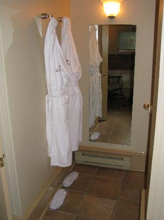 The Halliburton: Comfy Bathrobes in the room.