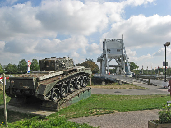 Ranville, France : Pegasus Bridge, Basse-Normandie, Normandy, France