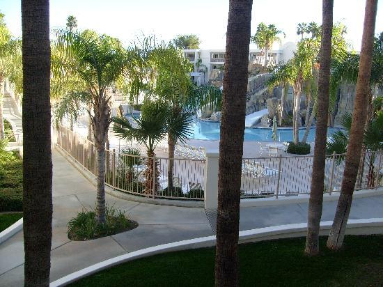 Palm Canyon Resort & Spa: View from my 2nd story room