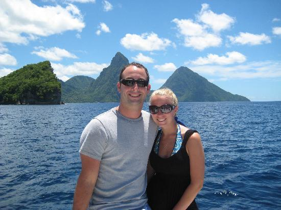 Calabash Cove Resort and Spa: The pitons... a must see while there!