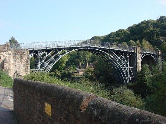 The Iron Bridge and Tollhouse: The Iron Bridge. Cast Iron construction