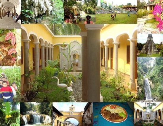 """Chahal, Guatemala: Collage of several places in Guatemala for my Twitter page """"HotelVSE"""""""
