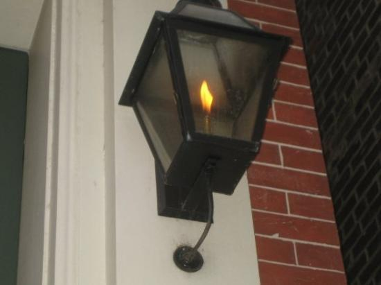 Old Town: That is a real flamed street light, they're everywhere.