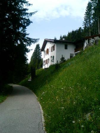 Morosani Posthotel Davos : ホテル近くのこみち