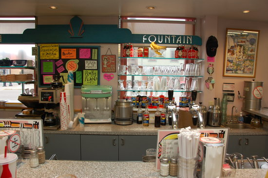 Lyon's Corner Drug & Soda Fountain: This little soda fountain is the real deal