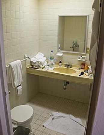 Tropicana Hotel: Bathroom Was Acceptable, Gets A Little Humid, No Vent?