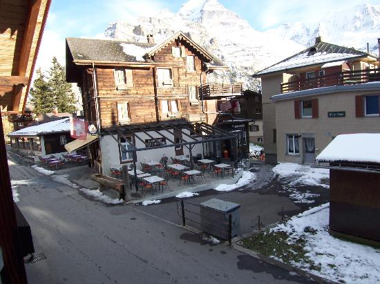 Chalet Fontana: view from my room looking at the restaurant
