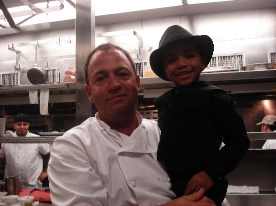 Mistral: Our son Jaiden with Chef Jamie Mammano