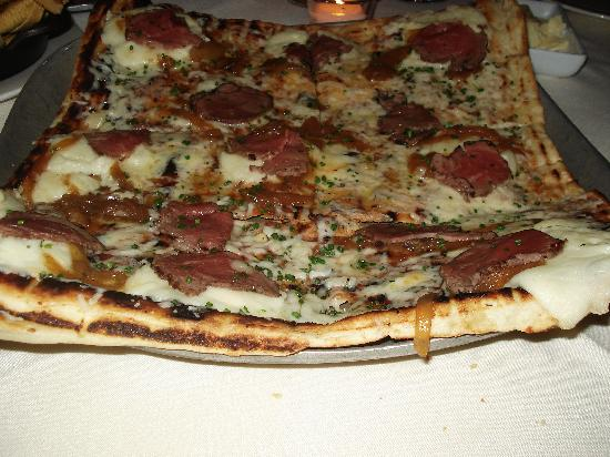Mistral: Tenderloin Pizza with Mashed Potatoes and White Truffle Oil - This is the best pizza I have ever