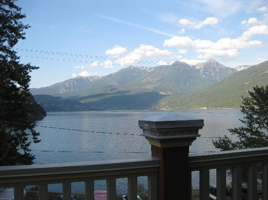 Kaslo Hotel: View from our room