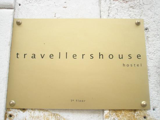 Travellers House: Sign outside the building