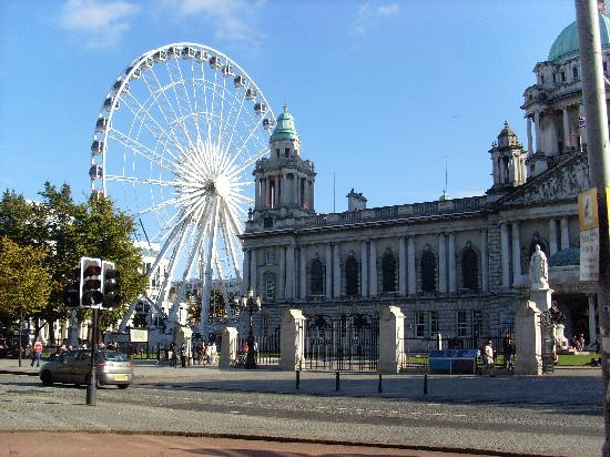 Belfast City Hall and Belfast Wheel