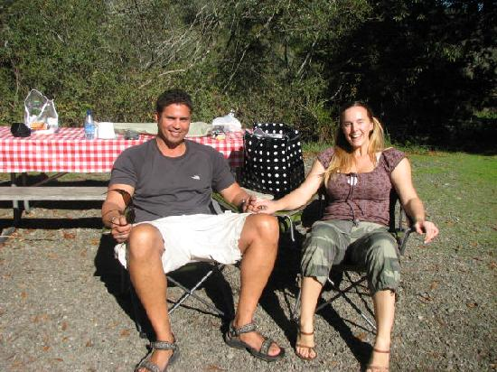 Casini Ranch Campground : Relaxing after breakfast, hey room service!