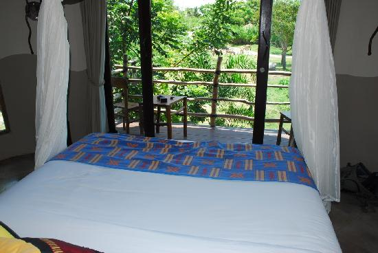 Mara River Safari Lodge: View from the bed