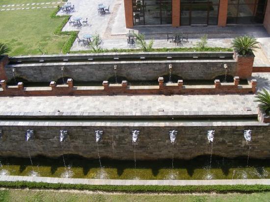 Hyatt Regency Kathmandu: fountains outside our room