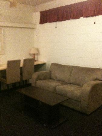 "Camelot Motel: Living area with the ""sofa"""