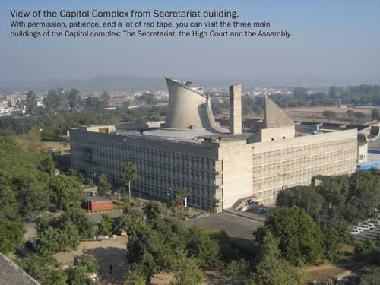 View of the Capitol Complex from Secretariat building.