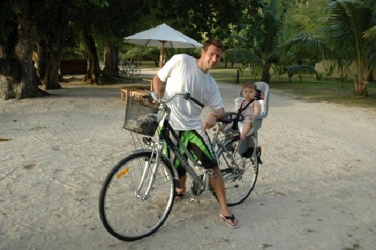 Beachcomber Seychelles Sainte Anne: On the bikes for sunset