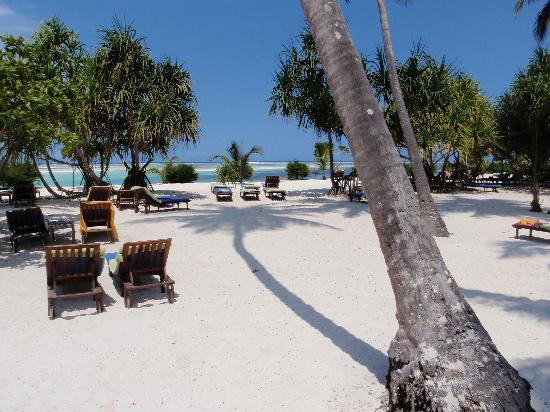 Neptune Pwani Beach Resort & Spa: Private beach area